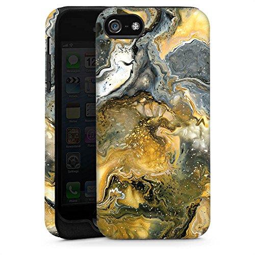 Apple iPhone 4 Housse Étui Silicone Coque Protection Marbre Style Cas Tough brillant