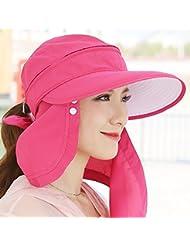 sombrero de la pesca niño visera extraíble anti-Sai tapándose la cara superior vacío del sombrero grande del sombrero del sol de ala ancha en bicicleta al aire libre de secado rápido