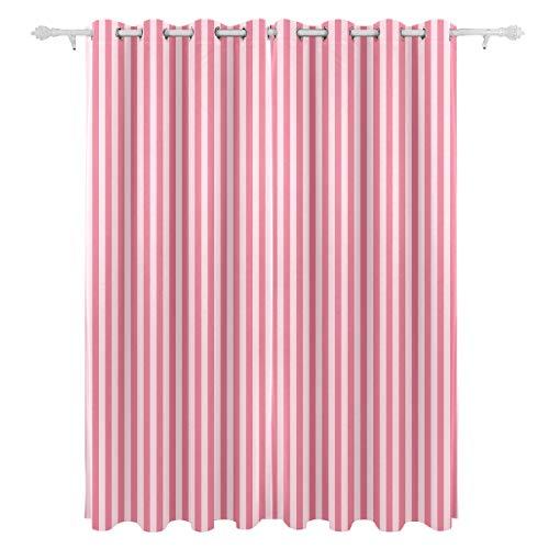 AGIRL Streifen Geometrische Einfache Diagonale Dekorative Hängende 2 Panel Set Gedruckt Blackout Vorhänge Für Schlafzimmer Wohnzimmer Esszimmer Fenster Vorhänge 54x84 Zoll Vorhang (Blackout Vorhänge Rosa 84)