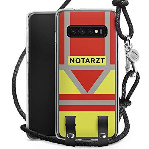DeinDesign Carry Case kompatibel mit Samsung Galaxy S10 Handykette Handyhülle zum Umhängen Notarzt Rettungssanitäter Rettungsdienst