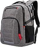 Netchian Laptop Rucksack 17 Zoll Leichte RFID Geschäft Mens Casual Rucksack Daypack Anti-Diebstahl mit USB-Ladeanschluss Wasserdichte Schulranzen für Mädchen (Grau)