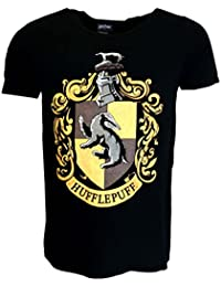 Harry Potter Hufflepuff Black T-shirt Official Licensed Movie