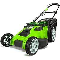 Greenworks Tondeuse à gazon sans fil avec doubles lames 49cm 40V Lithium-ion avec 2 batteries 2Ah et chargeur - 2500207UC