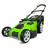 Greenworks Tondeuse à gazon sans fil sur batterie avec doubles lames 49cm 40V Lithium-ion avec 2 batteries 2Ah et chargeur - 2500207UC