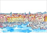 Poster 80 x 60 cm: Palermo Sicily Italy Waterfront Skyline
