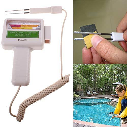 Schwimmbad Wassertester tragbar Outdoor Spa Tester Detektor PH Level Chlor Tester Messgerät Wasserqualität Messgerät Monitor Checker für Schwimmbad, Spa, Wasserfeder -