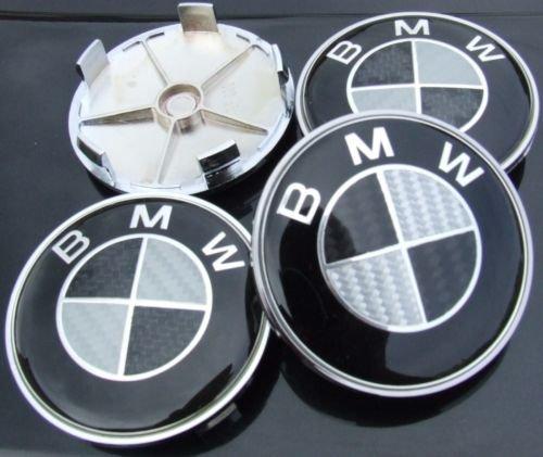 4-bmw-black-carbon-fibre-alloy-wheel-centre-caps-hub-cover-badges-emblem-4-centres-roues-caches-jant