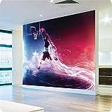 Ohcde Dheark 3D Wallpaper Veloce E Furioso Dunk Basket Galleria D'Arte Murale Wallpaper Papel De Parede Camera Da Letto Soggiorno Photo Wallpaper 150Cmx105Cm(59.1 By 41.3 In)