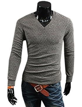 COCO clothing Otoño Primavera Polo Sweater Shirt Hombre Suéter Tops Camiseta Casual Prendas de Punto Basica Jerséis...