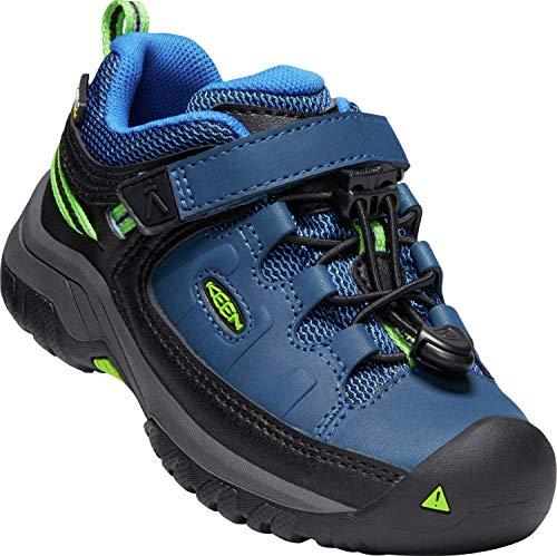 KEEN Targhee WP Low Shoes Children Blue Opal/Bright Green Schuhgröße US 12   EU 30 2019 Schuhe
