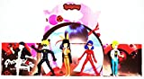 Lote de 5 figuras inspiradas en los personajes de Miraculous. Ladybug, Prodigiosa. Miden de 9 a 11 cms. de Altura. Elaborados en goma dura.