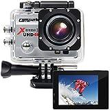 Campark® 4k Wifi Ultra HD Wasserdichte Sport Actionkamera mit Time Lapse und Slow Motion Funktion und 170 Grad Weitwinkel
