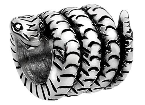 Nenalina Schlangen Bead glänzend teilweise oxidiert 925 Sterling Silber, auch kompatibel für Pandora Beads Armbänder, 719061-000 -