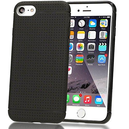 iPhone 8 / 7 Hülle Handyhülle von NICA, Ultra-Slim Case Softcover, Dünne Punkte Schutzhülle, Etui Handy-Tasche Back-Cover Bumper, TPU Silikon Gummi-Hülle für Apple iPhone 7 / 8 Smartphone - Pink Schwarz