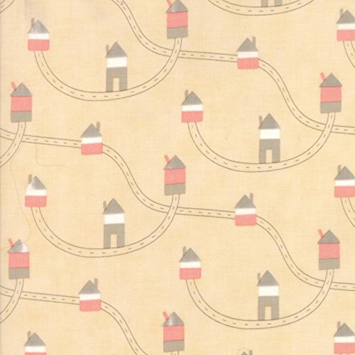 Moda Fabric Corner Of 5th And Fun Brushed Cotton Highways Byways Rosie Cheeks - Sold Per 1/4 Metre (Long Quarter) -