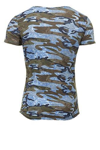 Key Largo Herren T-Shirt Kurzarmshirt Print Shirt Blue