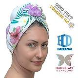 YOSSEE Haar-Turban Handtuch Mikrofaser/Baumwolle, Wickel-Handtuch zum Haare Trocknen mit HD-Druck Muster Motiv, Saugfähig und Leicht, Design für Frauen und Kinder, Hergestellt in der EU