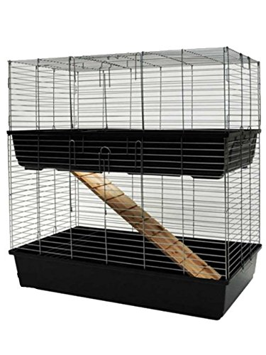 MyPets® Nagerkäfig TowerCage Hamsterkäfig Meerschweinchenkäfig zweistöckig Breite 100 x Tiefe 52 x Höhe 100