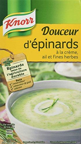 Knorr Soupe Douceur d'Épinards à La Crème/Ail et Fines Herbes 1 L