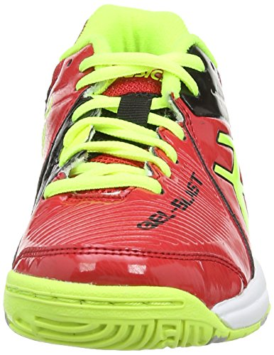 Asics Gel-blast 6 Gs, Chaussures Multisport Indoor Mixte enfant Rouge (Chinese Red/Flash Yellow/Black 2307)