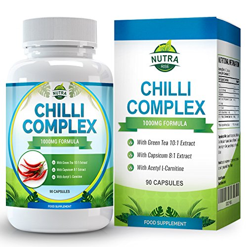Chilli Burn Complex, Maximum Strength Fat Burner for Men & Women, Formulated with Capsaicin to Increase Metabolism So You Lose Weight Fast, All Natural Diet & Weight Loss Supplement, 90 Capsules