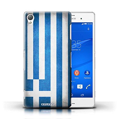 Kobalt® Imprimé Etui / Coque pour Sony Xperia Z3 / Finlande/finlandais conception / Série Drapeau Grèce/Grec
