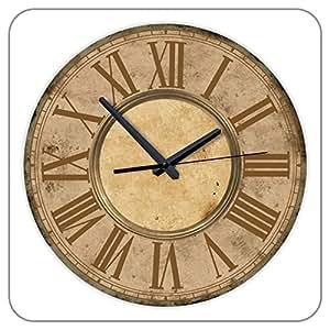 """12 """"Motif mécanisme d'horloge à Quartz silencieux avec chaîne Chiffres romains Grande Horloge Murale-Décoration murale pour salon"""