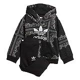 adidas Bandana Hoodie - Black/White, Größe:98