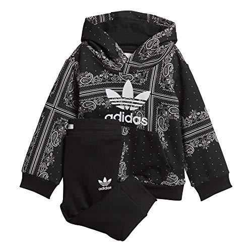 adidas Bandana Hoodie Chándal, Unisex bebé, Negro/Blanco, 68 (3/6 Meses)