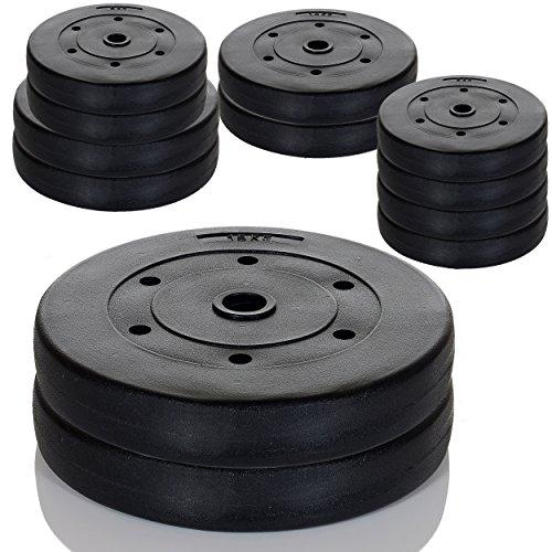 Hantelscheiben Gewichte -Auswahl aus 4 Krafttraining Sets - 4x5 kg / 2x10 kg / 2x10 2x5 kg oder 2 x 15 kg: 2 x 15 KG SET