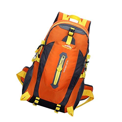 Wasserdicht Trekkingsack 40L, geeignet für Reisen, Wandern, Trekking, Bergsteigen, Klettern, Radfahren, Camping Orange