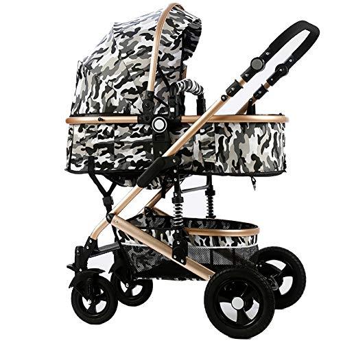AMENZ Jogger Kinderwagen Buggy Babyschale Luftreifen Komfort Einfach zusammenzuklappen Große Räder Luftreifen Günstig Sonnensegel für Park einkaufen Reisen Spazieren Gehen - O