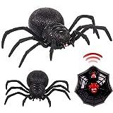 MMLC RC Ferngesteuerte Spinne Fernbedienung Spider Spielzeug Geschenk Deko Riesenspinne Tarantel Tarantula,Vogelspinne Wolfsspinne, ca. 19 cm (A)