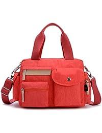 Bagtopia Women'S Light Casual Nylon Crossbody Shoulder Bag Water-Resistant Top-Handle Duffel Handbag - B01GE3I4KE