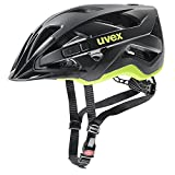 uvex Fahrradhelm, active cc, black-yellow mat