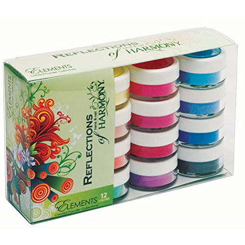 Harmony Reflections - Colored Acrylic Powders - Elements Collection - 12pc Kit