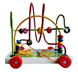 #8: Toyshine Wooden Toys Rolling Bead Maze Toy Pull Car Roller Coaster Game Wooden Educational Toys for Toddlers, Assorted Design