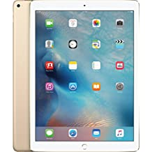 Apple iPad Pro 128GB Tablet, Full-Size 12.9 in Wifi Gold (Renewed)