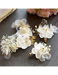 Alliage Imitation de perle Casque-Mariage Occasion spéciale Peigne Pique cheveux 3 Pièces