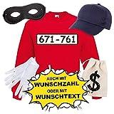 Sweatshirt PANZERKNACKER Set Kost�m mit WUNSCHNUMMER-STANDARDNUMMER Herren und Kinder Verkleidung Bild