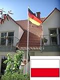 Fahnenmast Aluminium inkl. Polenflagge, 6,2 Meter, LILIMO ®