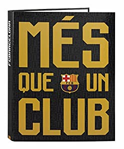 Futbol Club Barcelona - Carpeta folio 4 anillas mixtas (Safta 511725067)