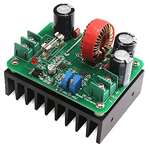 DEOK DC Step Up Converter CC CV Module Power Supply 600W 10-60V to 12-80V