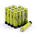 ELZO AAA Wiederaufladbare Batterien 1,2V/1100mAh Hohe Kapazität NI-MH Rechargeable Akkus mit Aufbewahrungsbox - 16er Pack