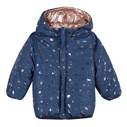 3 pommes Baby-Mädchen Jacket 3M41032 Jacke, Blau (Blue Grey 42), 6-9 Monate (Herstellergröße: 6/9M) Reversible Winter Mantel