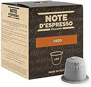 Note D'Espresso Capsule Compatibili con Sistema Nespresso, Orzo, 40