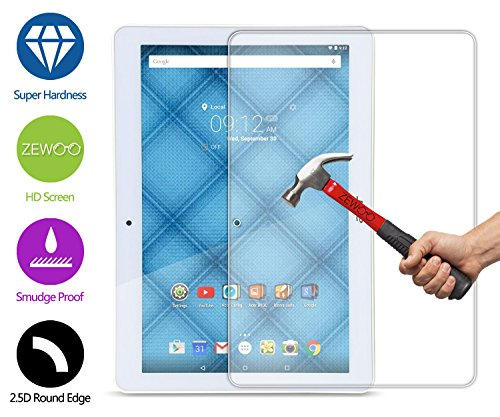 ZeWoo Display Glas Panzerfolie für Acer Iconia One 10 (B3-A10) (10,1 Zoll) Glasfolie Hartglas Schutzfolie 9H *2.5D, nur 0,33mm dünn (Iconia Acer Screen Protector)