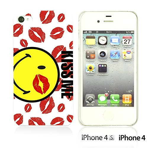 OBiDi - Funny Pattern Hardback Case / Housse pour Apple iPhone 4S / Apple iPhone 4 - A TO Z Kiss Me