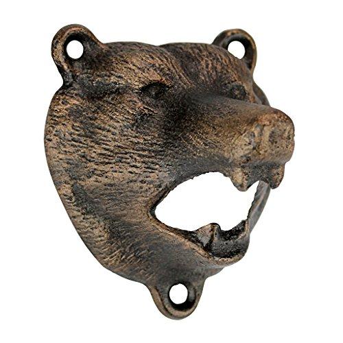 Design Toscano Grizzly-Bär der Wälder, Flaschenöffner aus Eisenguss (Grizzly-bären)