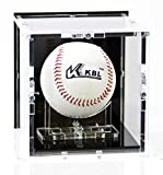 Baseball Vitrine mit schwarzem Boden und schwarzer Rückwand